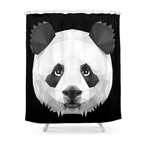Suminla-Home Badezimmer Panda Duschvorhang 182,9cm von 182,9cm