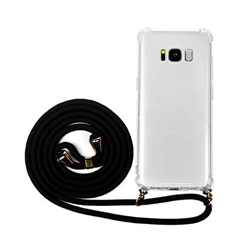 ACE Bilon - Funda para teléfono móvil Compatible con Samsung Galaxy S8, de Silicona y Poliuretano termoplástico Transparente, con Cinta Protectora