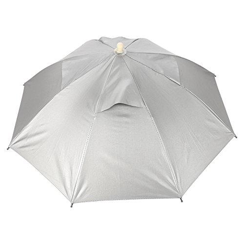 TOPINCN Schirmmütze mit Kopf, faltbar, wasserdicht, elastisch, für Golf, Camping, Angeln, Strand, Sonne, Regen, Regen.