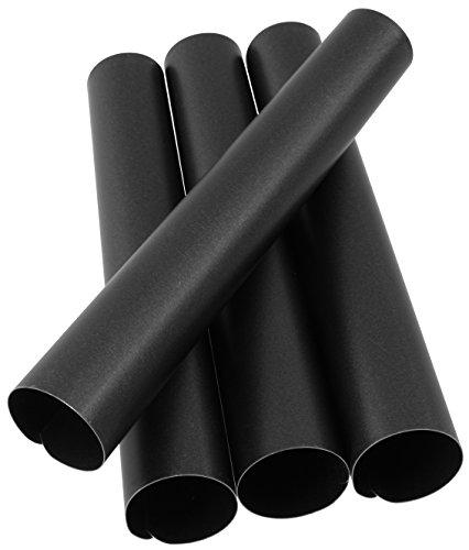 Zenker 7726 Lot de 4 rouleaux de pâtisserie, fourreaux à garnir, tubes pour pâtisserie, Acier inoxydable, Noir, 13 cm