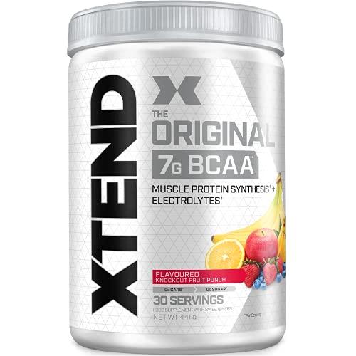 XTEND Original | aminoacidi BCAA in polvere Mix di frutta | Integratore di aminoacidi ramificati | 7g BCAA + elettroliti per recupero e idratazione | 30 porzioni