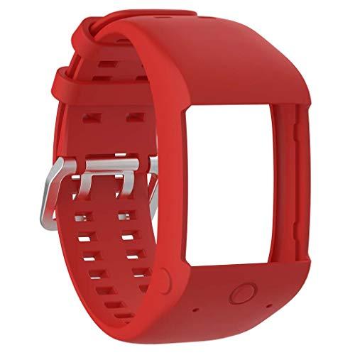Nuevo reemplazo de la pulsera de la pulsera de la correa del reloj del silicón para el reloj polar M600