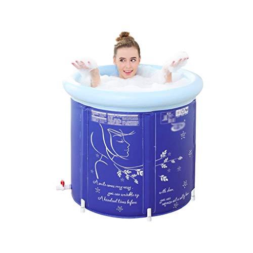 NXYJD Ampliación de la bañera Inflable, Espesado y ampliada Plegable Bañera Adulto Niño baño en barrica