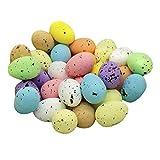 Perfeclan 30 Pezzi in Schiuma di Colore Macchiato Misto Uova di Pasqua Colorate Artificiale Uovo di Pasqua Cesto di Partito della Decorazione