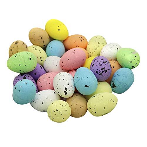 Hellery Paquete 30 Huevos de Pascua moteados simulación de Huevo de Pascua para Cesta de Huevos de Pascua Juego decoración del hogar