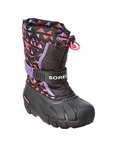 Sorel Jugend Unisex Little Flurry Druck Shell Boot, 28 EUR, Black/Pink Ice