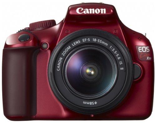 Canon デジタル一眼レフカメラ EOS Kiss X50 レンズキット EF-S18-55mm IsII付属 レッド KISSX50RE-1855IS2LK