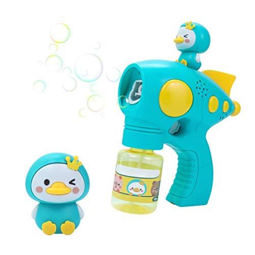 ABCDJHH Pistola de burbujas de aire eléctrica automática para niños de verano, para jugar al aire libre