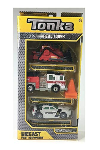 Tonka Real Touch Diecast First Responder Vehicle 3 Pack