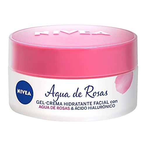 NIVEA Nivea Gel Hidratante Facial Con Agua De Rosas, 50 Ml, color, 50 ml, pack of/paquete de