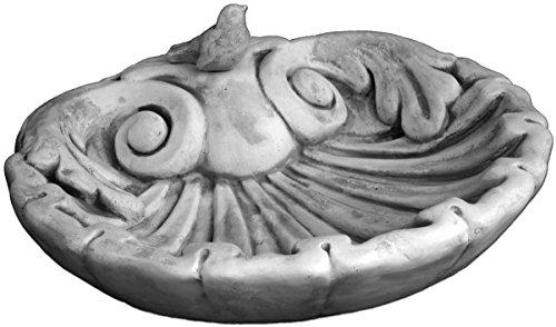 gartendekoparadies.de Vogeltränke mit Motiv Muschel groß aus Steinguss, frostfest