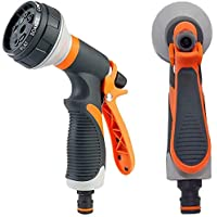 Axyofsp Garden Hose Spray Nozzle with 8 Watering Patterns (Orange)