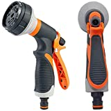 7. AXYOFSP Garden Hose Nozzle Spray Nozzle,8 Watering Patterns Metal Heave Duty Water Nozzle,High Pressure Nozzle Sprayer for Watering Plants, Cleaning, Car Wash and Showering Dog & Pets