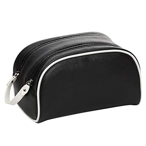 Accueil Cas cosmétique Chambre Cosmétique Multi-Fonction à Grande capacité PU Tissu Sac de Rangement Multi-Couleur Portable Voyage (Color : Black)