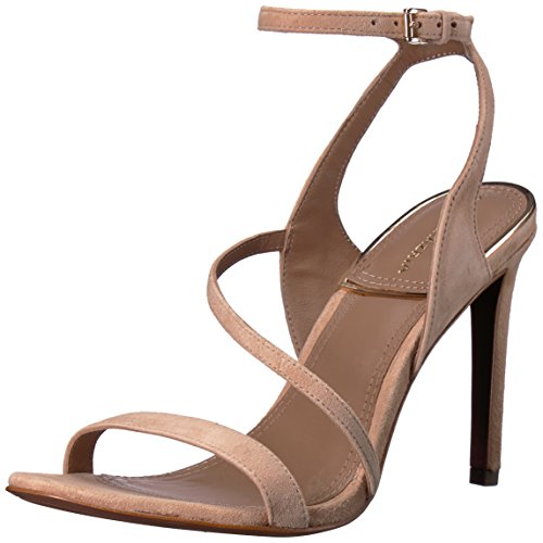 BCBGMAXAZRIA Women's Amilia Dress Sandal Sandal, tea rose suede, 9.5 M US
