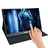 15.6 Inch Portable Touch Screen Monitor USB c, Thinlerain 1920 x 1080P IPS Display HDMI Monitor Support for Mac...