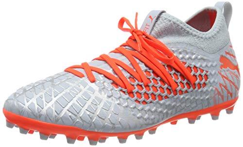 PUMA Future 4.3 Netfit MG, Botas de fútbol para Hombre, Glacial Blue-Nrgy Red, 43 EU