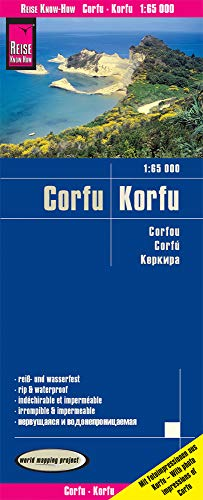 Reise Know-How Landkarte Korfu / Corfu (1:65.000): world mapping project