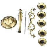 Queta Kerzenleuchter 5-armig Kerzenständer Candle Holder Kerzenhalter als Tischdeko für Weihnachten und Erntedankfest (Bronze) - 7