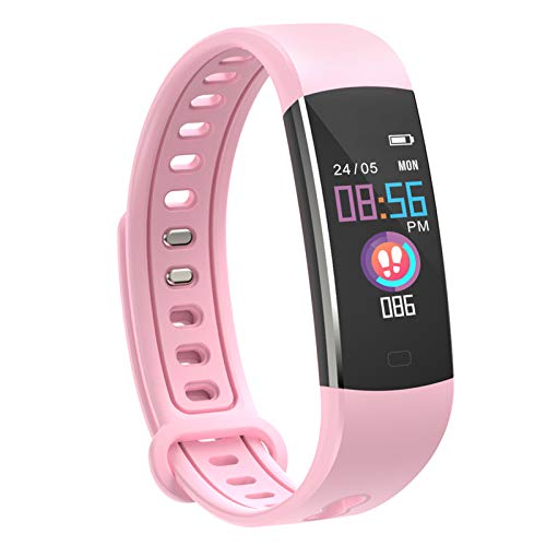 moreFit Kids Fitness Tracker with Heart Rate Monitor,Waterproof Activity Tracker Watch with 4 Sport Modes,Sleep Monitor Fitness Watch with Call & SMS Reminder Alarm Clock,Great Gift