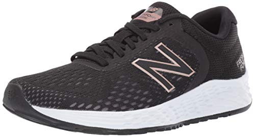 New Balance Women's Arishi V2 Fresh Foam Running Shoe, Black/Rose Gold, 6.5 M US