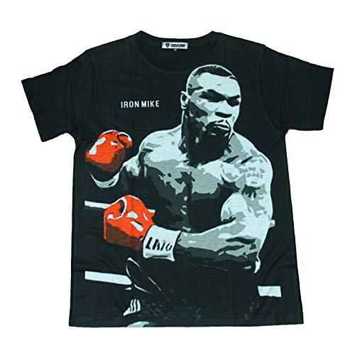 (GibGae) プリントTシャツ マイクタイソン ボクシング ヘビー級 おもしろTシャツ メンズ [並行輸入品]