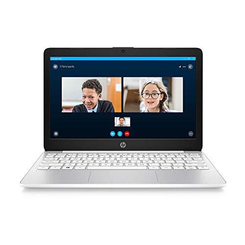 HP Stream 11-inch HD Laptop, Intel Celeron N4000, 4 GB RAM, 32 GB eMMC, Windows 10 Home in S Mode with Office 365 Personal for 1 Year (11-ak0020nr, Diamond White) (Renewed)