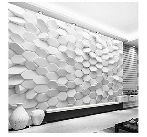 3D Wallpaper Vision Unregelmäßige Pentagon Bestellung Benutzerdefinierte Moderne Tapete Abstrakte Geometrische Figur Wand Wohnzimmer 380X260Cm