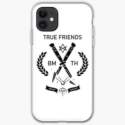 Candybrush BMTH Band Metal Custodia Protettiva per Telefono con Design a Scatto/Vetro per iPhone, Samsung, Huawei - TPU Antiurto per Interni protettivi