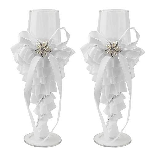 2 stuks wijnchampagne fluit glas toasten set voor bruiloft # puntige jurk MEERWEG verpakking socialme-eu