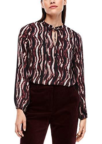 s.Oliver BLACK LABEL Damen 150.10.009.10.100.2043286 Bluse, Cream Batik Stripes, 40