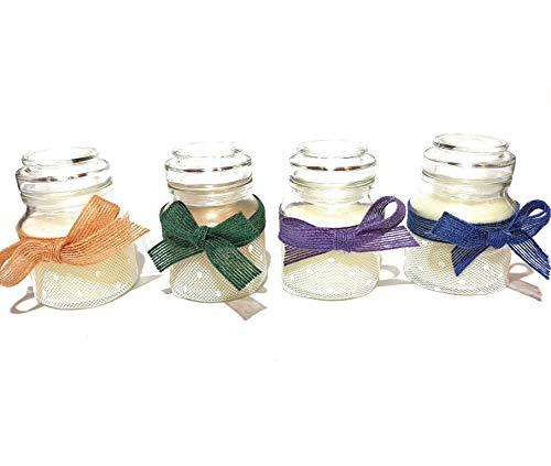 Moesi geurkaarsen in glas, 10 stuks