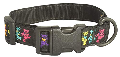 My Sunnies Adjustable Length Dog Collar Dancing Bears - 3/4-inch Wide, Size XS 8'-13' for Small Little Dogs