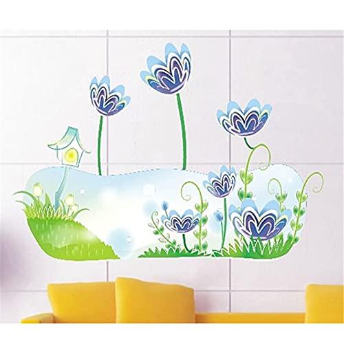 Narciso azul Diy pegatinas de pared nevera armario decoración decoración sala de estar dormitorio decoración de la pared