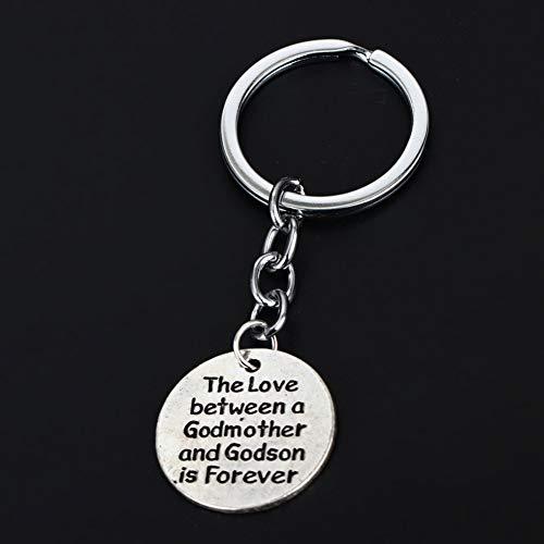 Liefde tussen Godmother en Godson Sleutelhanger Sleutelhanger Ring Souvenirs Ketting Accessoires Bedel Sieraden