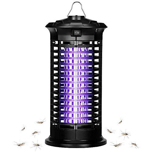 Bug Zapper Electric Insact Killer UV Light | Mesquito Killer Bug Fly Pests Attractant Trap Zepper Lamp for Indoor Home Bedroom,Kitchen (Black2)