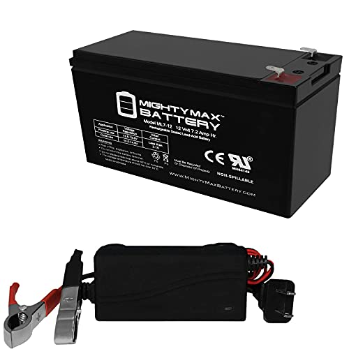 Mighty Max Battery ML7-12 - 12 Volt 7.2 AH SLA Battery Includes 12V Charger Brand Product