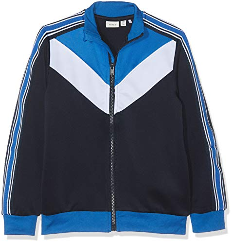 NAME IT Jungen NKMDARIO LS Card UNB Jacke, Mehrfarbig Dark Sapphire, 146 (Herstellergröße: 146-152)