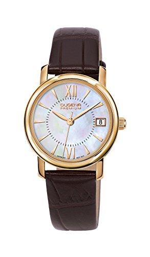 Dugena Damen-Armbanduhr Rondo Petit - Traditional Classic Analog Quarz Leder 7000157