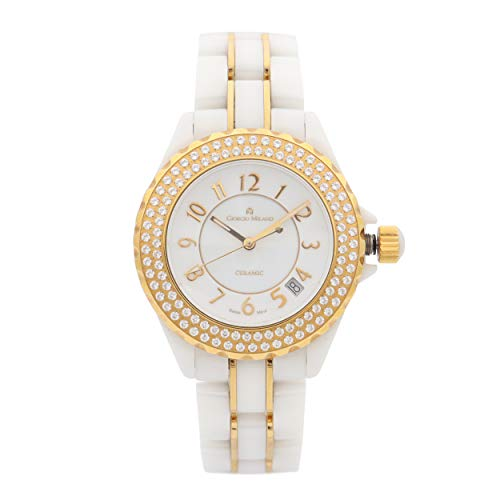 Gorgio Milano GM7060GLWH - Reloj de cuarzo para mujer