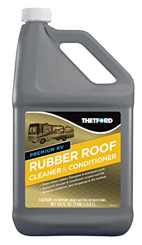 Thetford Premium RV Rubber Roof Cleaner & Conditioner - Non-Toxic - Non-Abrasive - Biodegardable - 1 Gallon 32513