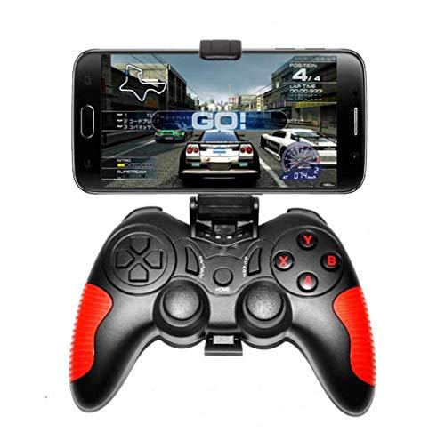 SMSOM Controlador de Juegos móviles, Gamepad inalámbrico Bluetooth, Joystick de Juego Adecuado para/Android/iOS Teléfono/TV Box/PC, para la mayoría de los Juegos Populares Gaming Grip