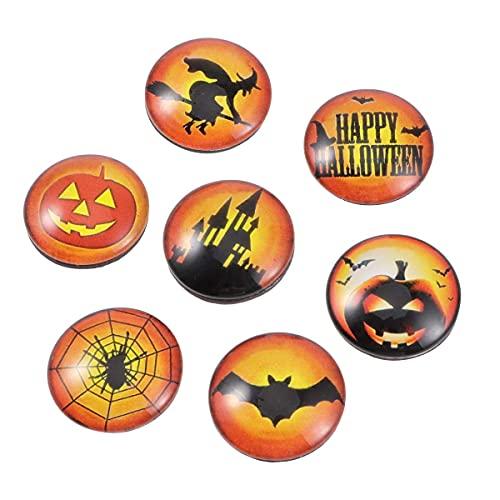 DOITOOL 10 imanes de nevera de la serie de Halloween para el refrigerador de cristal de la hora de la etiqueta engomada magnética decoración