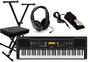 Yamaha PSR-EW300 Keyboard Package with Headphones, Stand,Bench, and Sustain Pedal