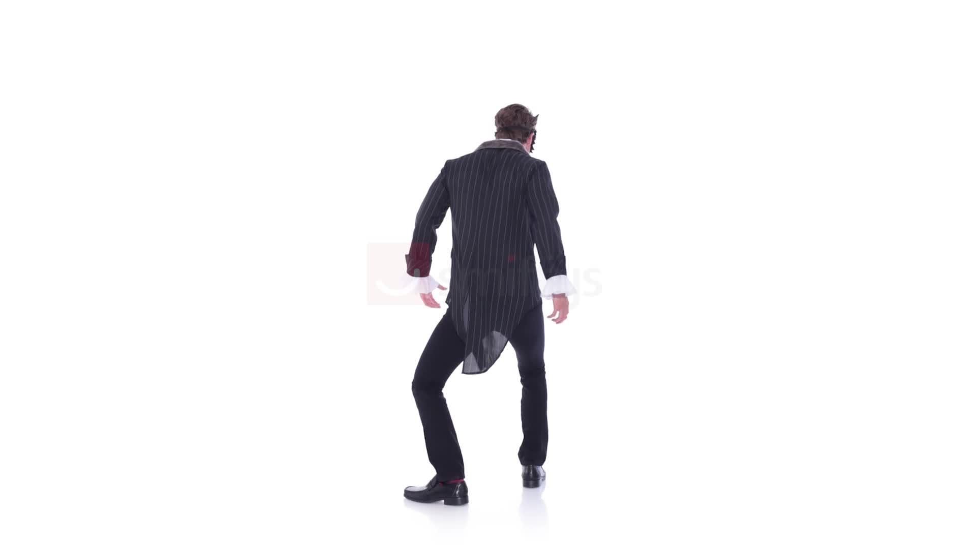 queue amovible Smiffys Costume grand m/échant loup Deluxe fausse che avec veste Gris