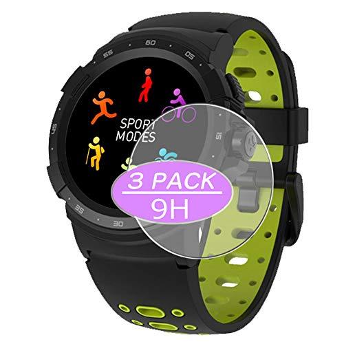 VacFun 3 Piezas Vidrio Templado Protector de Pantalla para MyKronoz Zesport 2, 9H Cristal Screen Protector Sin Burbujas, Alta Definición Película Protectora Reloj Inteligente Smartwatch Pulsera