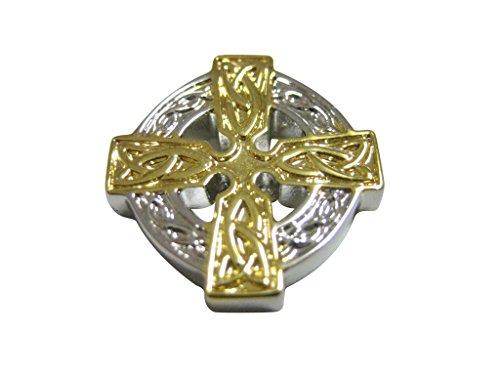 Kiola Designs Gold and Silver Toned Celtic Cross Magnet