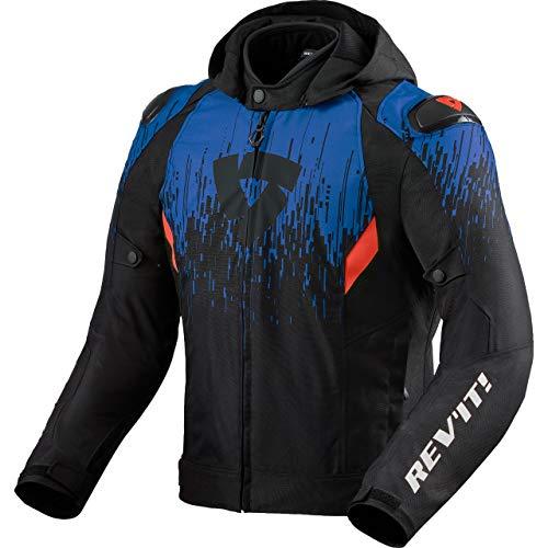 REV'IT! Motorradjacke mit Protektoren Motorrad Jacke Quantum 2 H2O Textiljacke schwarz/blau XL, Unisex, Sportler, Ganzjährig, Polyester