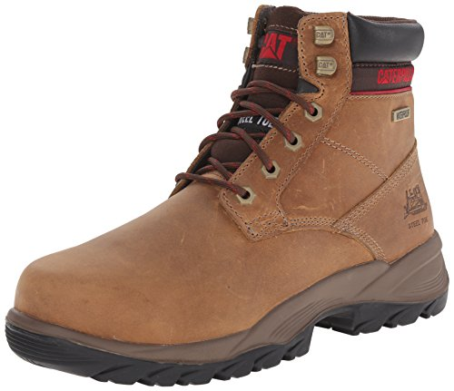 "Cat Footwear Women's Dryverse 6"" Wp Construction Boot, Dark Beige, 7.5 Medium"