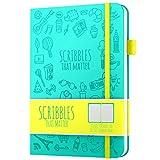 Scribbles That Matter ド点線ジャーナル:その重要な - あなた自身のユニークな生活のオーガナイザーを作成する - いいえブリードA5ハードカバードットノートブック - インナーポケット - 万年筆フレンドリーな紙 - 象徴的なバージョン(ティール)